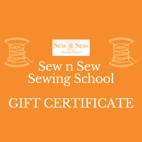 Sew n Sew Sewing School Gift Certificate