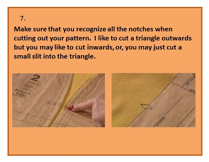Before you cut out your pattern - step seven