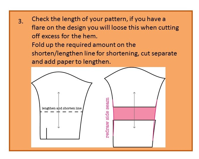 Before you cut out your pattern - step three
