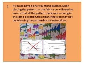 Before you cut out your pattern - step two