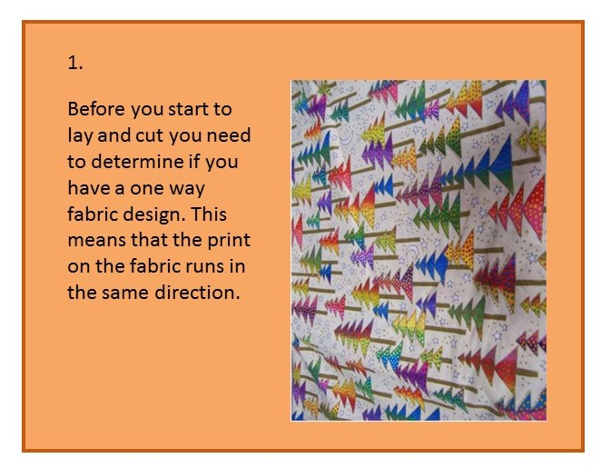 Before you cut out your pattern - step one