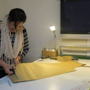 Rasella in the pattern making course