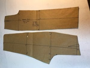 Pattern-making-trouser-block
