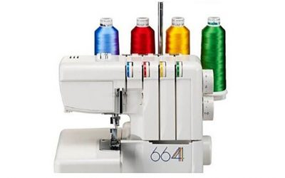 How to change the coloured thread on your overlocker