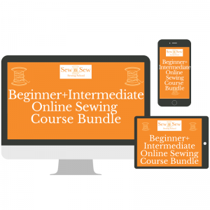 Sew n Sew Beginner and Intermediate Online Sewing Course Bundle
