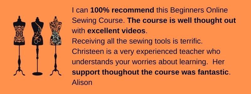 Beginners online course Testimonial Alison