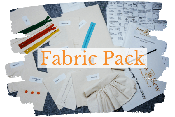 Fabric pack provided with the Beginners Online Course