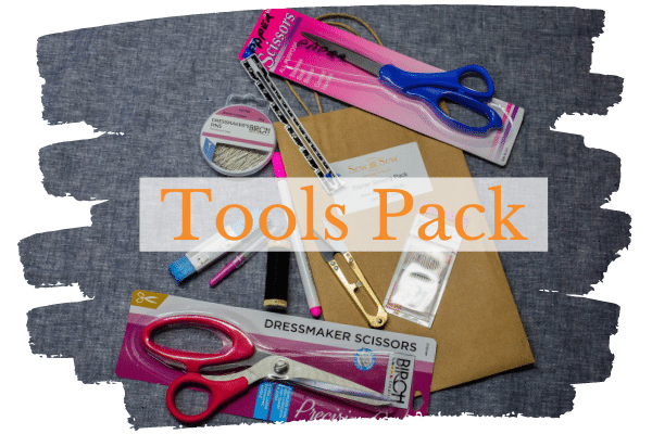 Sewing tools pack provided with the Beginners Online Course