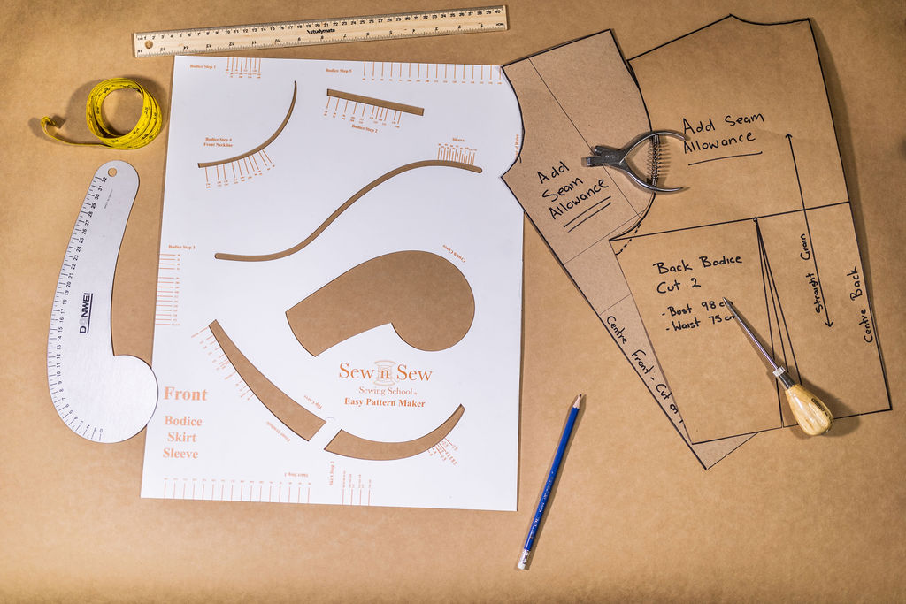 Sew n Sew Pattern Maker Course Tools and Ruler